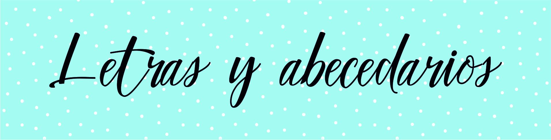 Letras y abecedarios